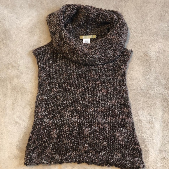 Relais Knitware Sweaters - Cowl Neck Sleeveless Sweater